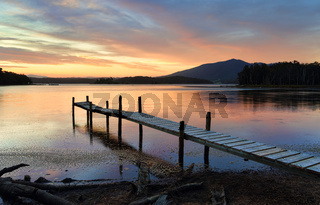 Little Timber Jetty on Wallaga Lake at Sunset