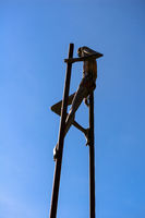 sculpture on stilts