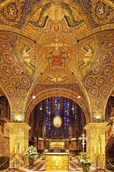 Altar and Choir Hall, Aachen Cathedral, Unesco World Heritage Site, North Rhine-Westphalia, Germany