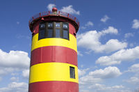 Pilsum Lighthouse, sky and clouds