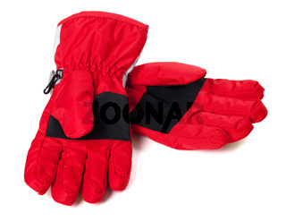 Pair of winter ski gloves