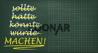 Green Schoolboard Motivation Machen Copyspace