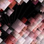 Futuristic technology square background design illustration with light