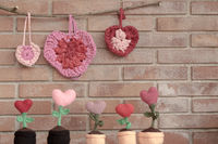 valentines decorations hearts and flower hearts