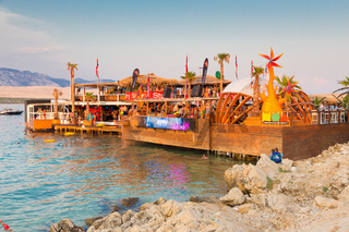 Party on Zrce beach, Novalja, Pag island, Croatia.