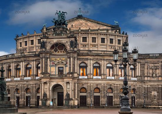 The Semper Opera House in Dresden
