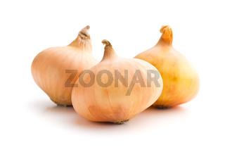 three raw onions