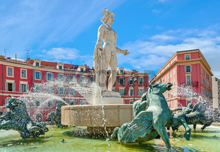 Fountain of the Sun in Nice, France.