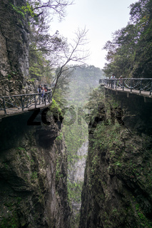 tianmen mountain landscape and viewpoint