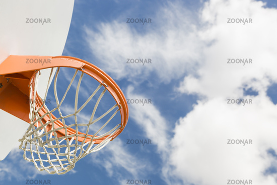 Abstract of Community Basketball Hoop and Net