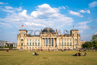 The Reichstag building, the seat of German parliament, Berlin