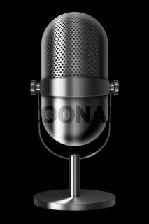 Vintage metal microphone.