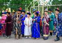 Mongolian archers at competition