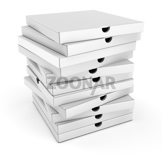 3d stack of pizza boxes