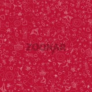 Love Valentine Day doodle icons vector illustration
