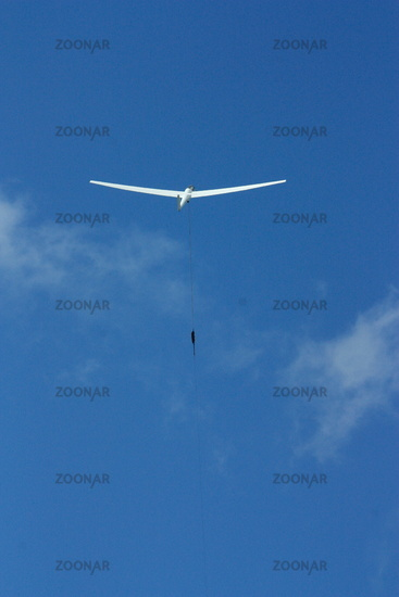 Glider on blue sky, Wind Home