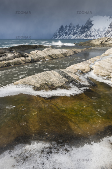 snow shower, Senja, Norway