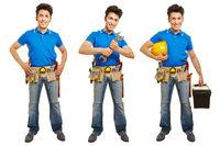 Handwerker oder Heimwerker von vorne