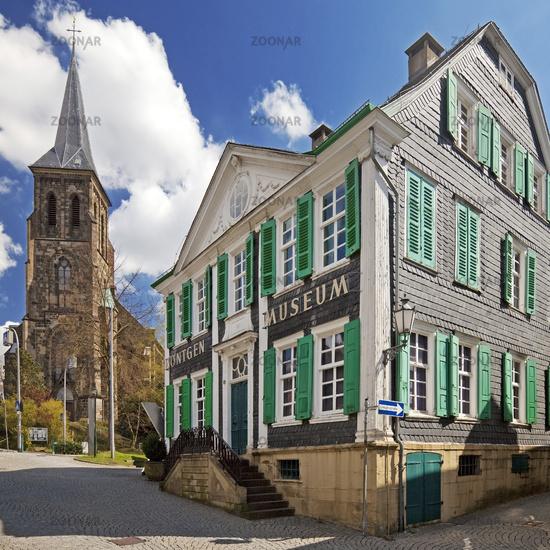 German Roentgen-Museum with church St.-Bonaventura, Remscheid, North Rhine-Westphalia, Germany