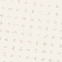 Light Tilted Seamless Pattern with Icons