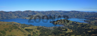 Beautiful landscape on the Banks Peninsula, New Zealand