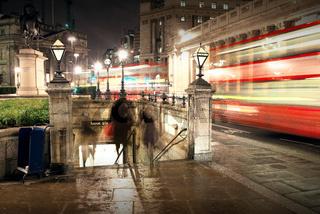 City workers entering Bank underground station, London, United Kingdom