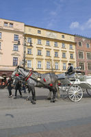 Horse carriage in Krakow