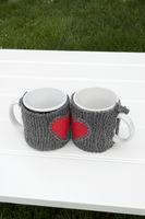 mug warmer on a table in a garden