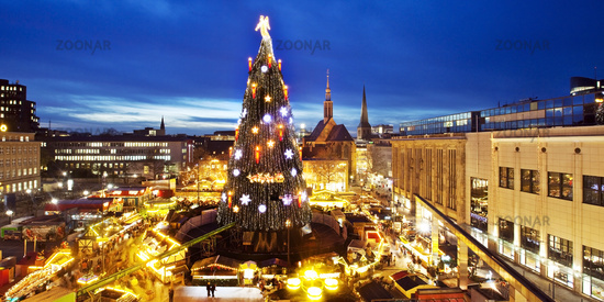Christmas market, Dortmund, Ruhr area, North Rhine-Westphalia, Germany