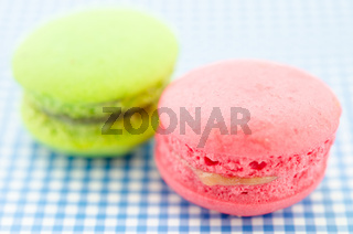 colorful macaroon sweet tasty dessert.