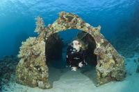 Garage der Jacques Cousteau Unterwasserstation Precontinent II, Sudan