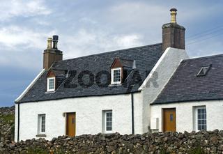 Typisches Crofter Bauernhaus,  Assynt, Schottland, Grossbritannien