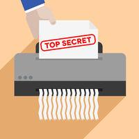 shredding top secret letter