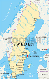 Schweden Landkarte