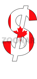 dollar - flag of canada