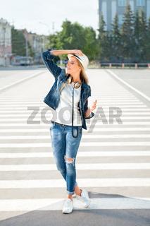 Walking on zebra.