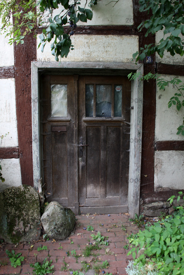 Old front door in Schwalenberg