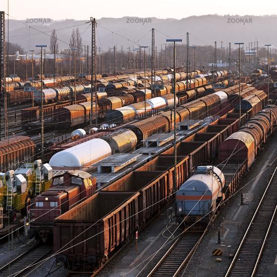 train formation yard Vorhalle, Hagen, Ruhr Area, North Rhine-Westphalian, Germany