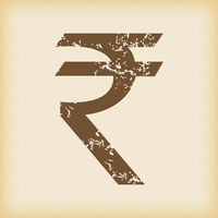 Grungy rupee icon