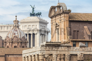 Ruins of the Roman Forum in Rome, Italy.