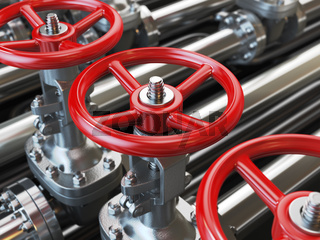 Oil or gas pipe line valves.