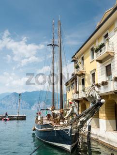Historic ship in Malcesine