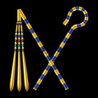 Krummstab und Geißel ägyptischer Pharaonen