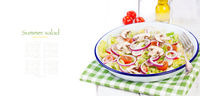 Healthy fresh summer salad with letucce