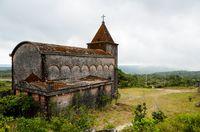 Abandoned christian church