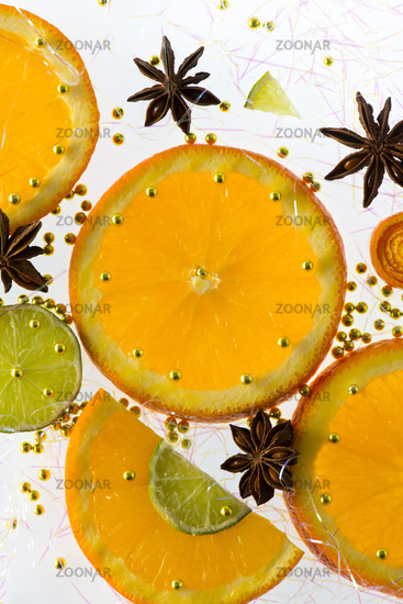 Orange and lemon slice
