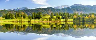 Panorama Landschaft in Bayern im Allgäu