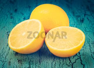 Lemon and cut half slices