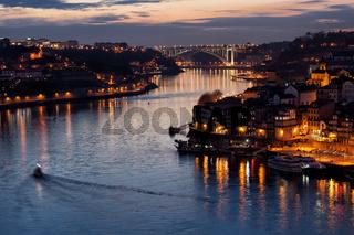 Dusk at Douro River in Porto