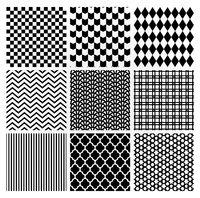 Geometric Monochrome Seamless Background Patterns